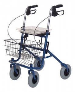 Heavy duty 4Heavy Duty 4 wheel walker with basket