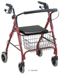 4 wheel walker with basket and seat